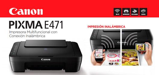 Canon Multifuncional Tinta Wifi Pixma E 471 Pc Factory