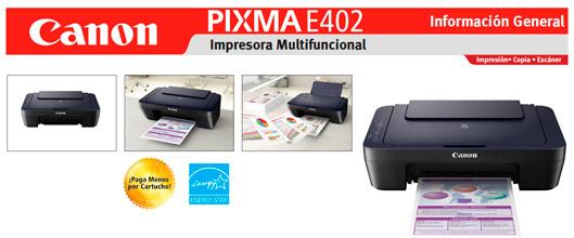 Canon Multifuncional Tinta Pixma E 402 Pc Factory